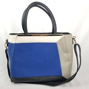 Yoki Color Block Blue & Black Large Versatile Bag